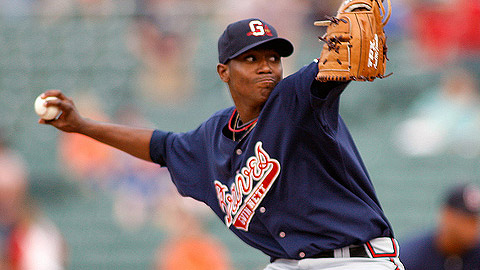 Julio Teheran is 4-2 with a 2.98 ERA in nine starts for Triple-A Gwinnett.